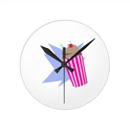 Milkshake Round Clock