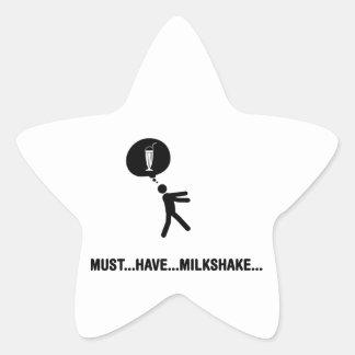 Milkshake Lover Star Sticker