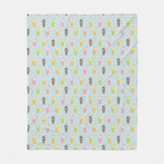 Milkshake Pattern Fleece Blanket