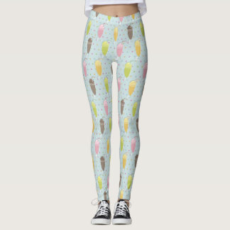 Milkshake Pattern Leggings