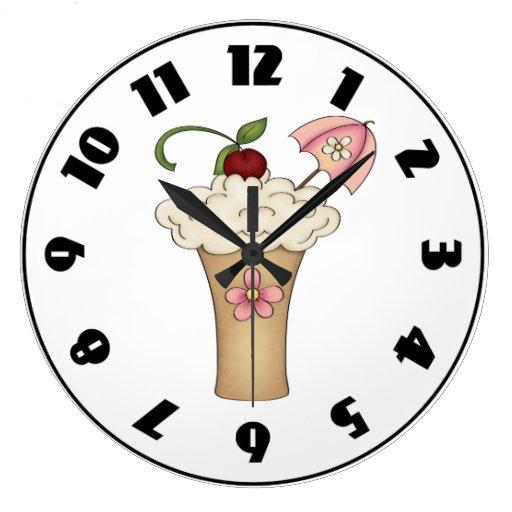 Milkshake With An Umbrella Clock