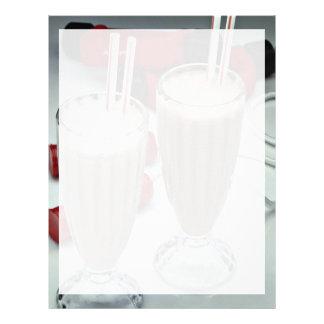 Milkshakes in glass tumblers letterhead