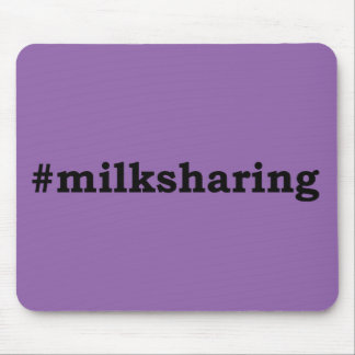 #milksharing black writing mouse pad