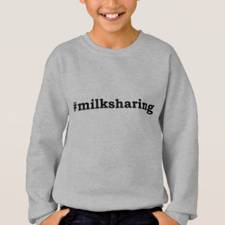 #milksharing black writing sweatshirt