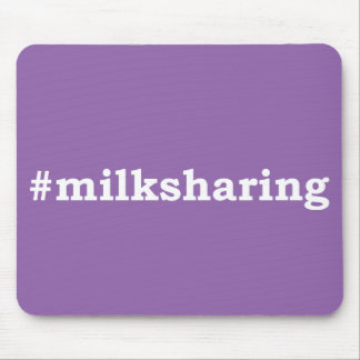#milksharing white writing mouse pad