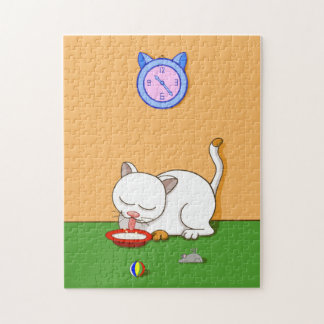 Milky Cat Jigsaw Puzzle