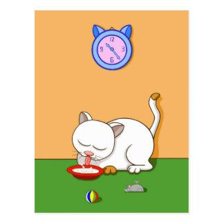 Milky Cat Postcard