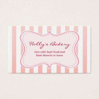 milky design bakery business card