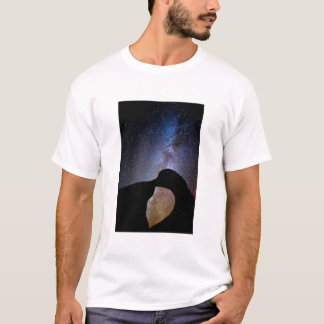 Milky way at night, California T-Shirt