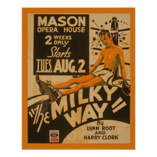 Milky Way Boxer 1938 WPA Vintage Theatre Poster