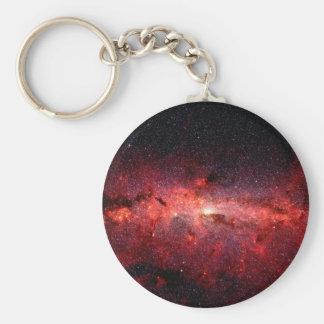 Milky Way Galaxy Space Photo Keychain