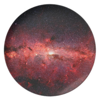 Milky Way Galaxy Space Photo Plate