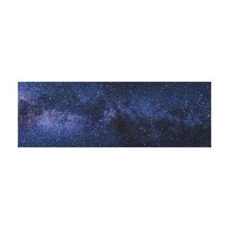 milky way galaxy wrapped canvas