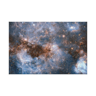 Milky Way Heart Space Astronomy Galaxy Spectacular Canvas Print