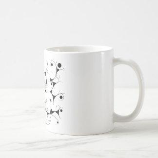 Milky way in black coffee mug