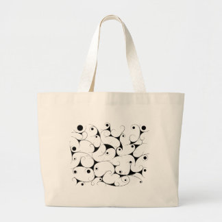 Milky way in black large tote bag