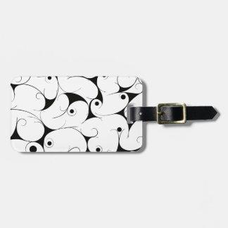 Milky way in black luggage tag