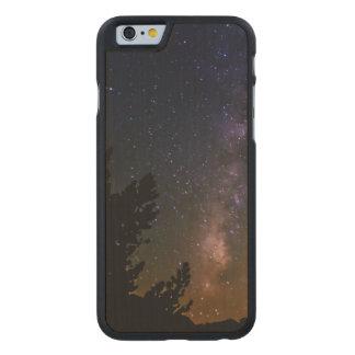 Milky Way night sky, California Carved® Maple iPhone 6 Slim Case