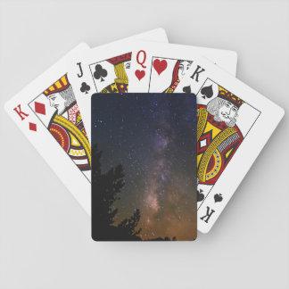 Milky Way night sky, California Poker Deck
