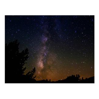 Milky Way night sky, California Postcard