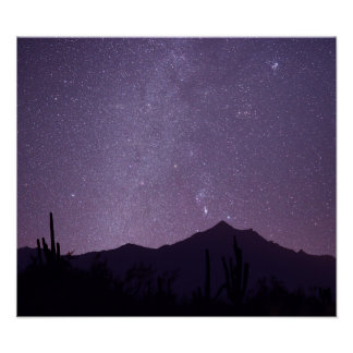 Milky Way over Arizona with Gemini, Taurus & Orion Poster