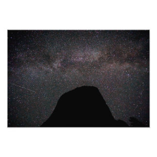 Milky Way over Devils Tower Photo Print