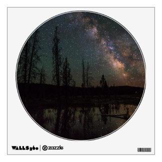 Milky Way Over Firehole Lake Wall Sticker