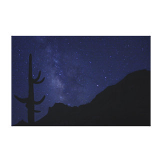 Milky Way over Picacho Peak Canvas Print
