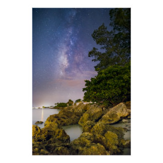 Milky Way over Sanibel Island Poster