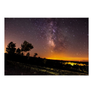 Milky Way seen from Silver Lake, Michigan Poster