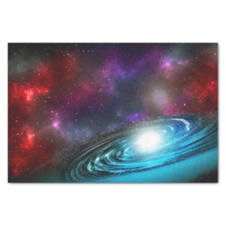 Milky Way Starfield with Multicolored Cosmic Dust Tissue Paper