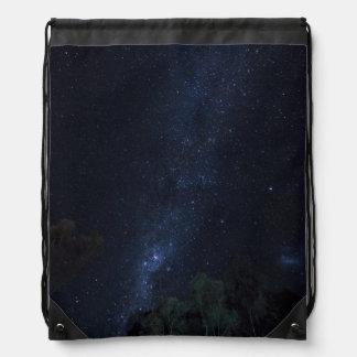 Milky Way Stars Drawstring Bag