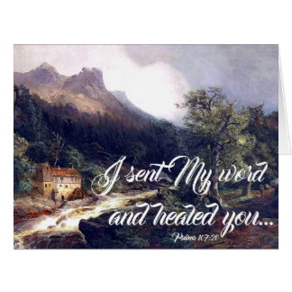 Mill Alps River Gods Word Heals Big Greeting Card