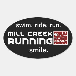 Mill Creek Club Oval Stickers