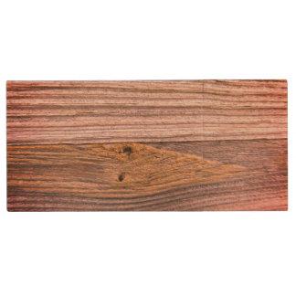 Mill Stream Bridge Wood Railing - Varnished Look Wood USB 2.0 Flash Drive