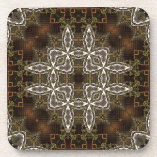Mill Town Kaleidoscope Pattern Coaster