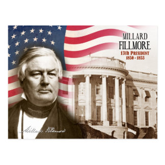 Millard Fillmore -  13th President of the U.S. Postcard