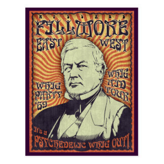 Millard Fillmore - Whig Out! Postcard