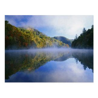 Millcreek Lake and autumn colors at sunrise, Postcard