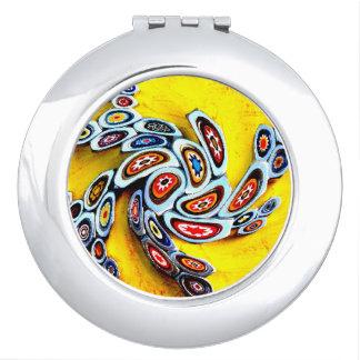 Millefiori Swirl Travel Mirror