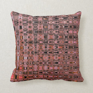 Millefiori Zigzag Boho Salmon Pink Peach Throw Pillow