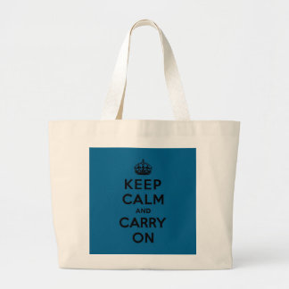 Millenium Blue Keep Calm and Carry On (black) Canvas Bags