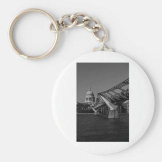 Millenium Bridge and St Pauls Cathedral Keychain