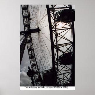 Millenium Wheel - London Poster