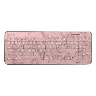 Millennial Pink Marble Wireless Keyboard