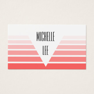 Millennial Pink Ombre Stripe Business Card
