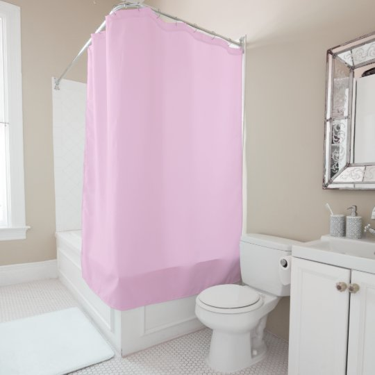 millennial pink solid colour shower curtain