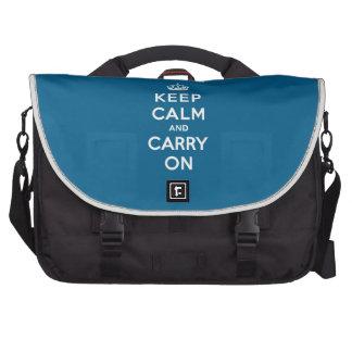 Millennium Blue Keep Calm and Carry On Laptop Bag