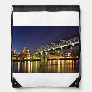Millennium Bridge Drawstring Bag