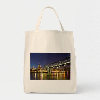 Millennium Bridge Grocery Tote Bag